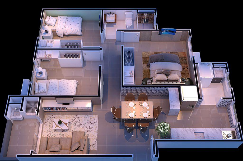 Humanizada 3 Dormitórios